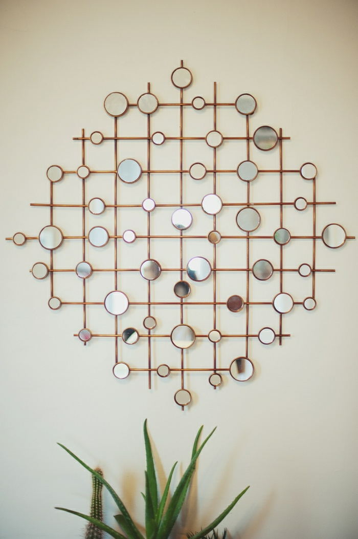 1-miroirs-ikea-decoration-avec-miroir-decoratif-mur-beige-plante-verte-d-intérieur