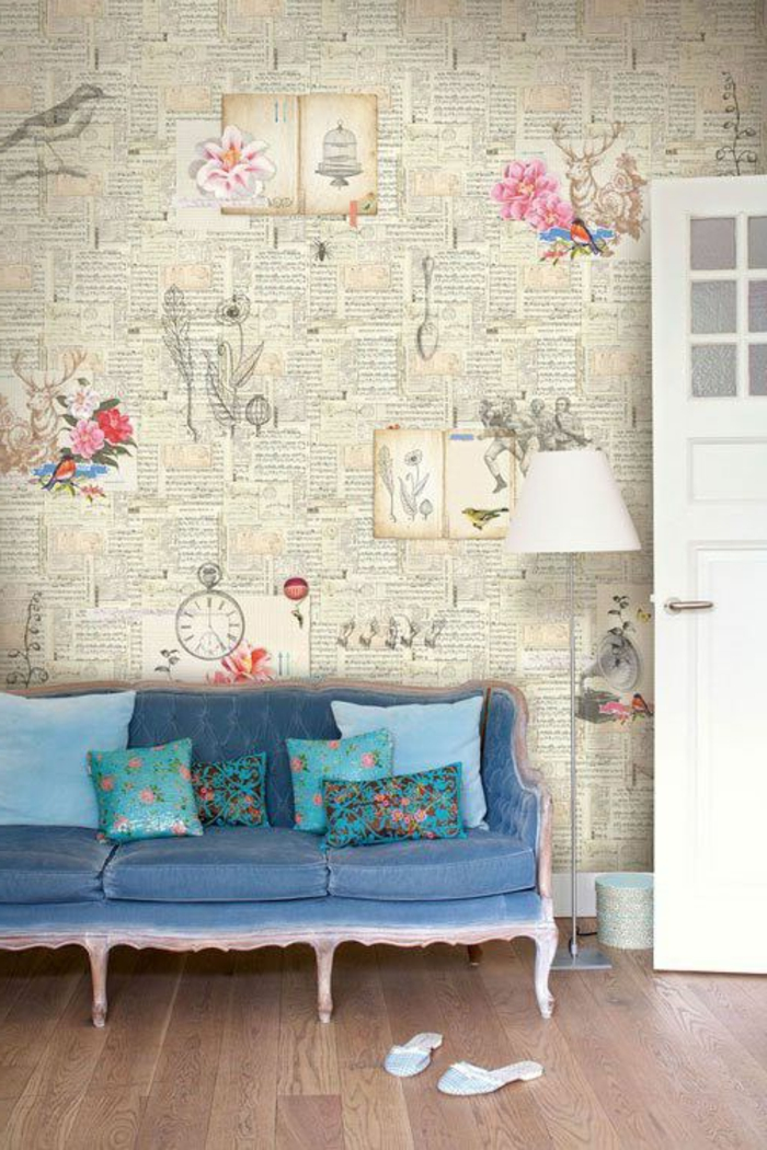 1-originale-variante-de-saint-maclou-papier-peint-intissé-un-joli-salon-avec-parquettte-en-bois-clair-poser-du-papier-peint-intissé