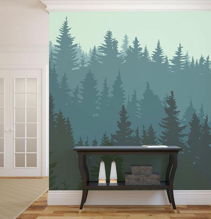 50 photos avec des id es pour poser du papier peint intiss. Black Bedroom Furniture Sets. Home Design Ideas
