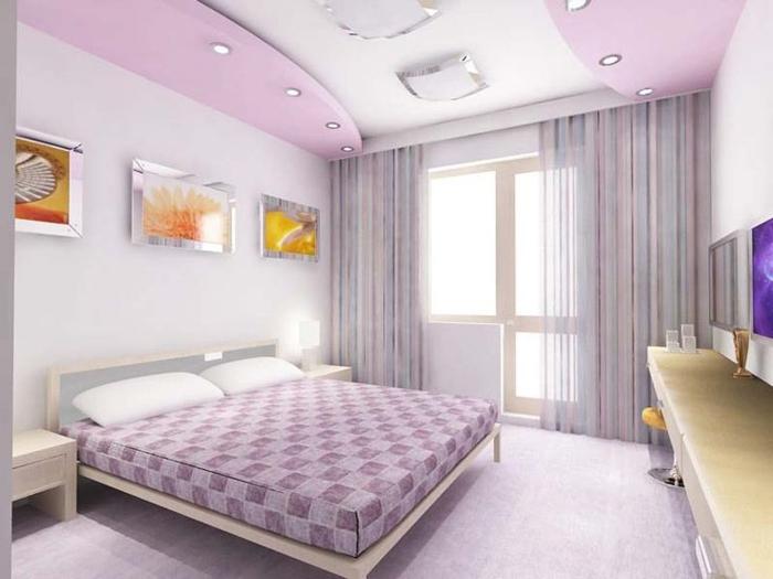 1-plafond-suspendu-placo-chambre-à-coucher-enfant-fille-deco-chambre-a-coucher-violet-avec-faux-plafond-suspendu