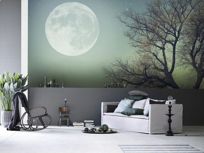 trompe oeil mural interieur stickers trompe luoeil baie vitre pont en foret with trompe oeil. Black Bedroom Furniture Sets. Home Design Ideas