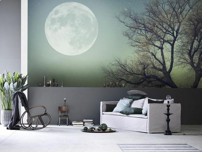 1-poster-mural-trompe-l-oeil-canapé-gris-stickers-muraux-poster-mural-trompe-l-oeil