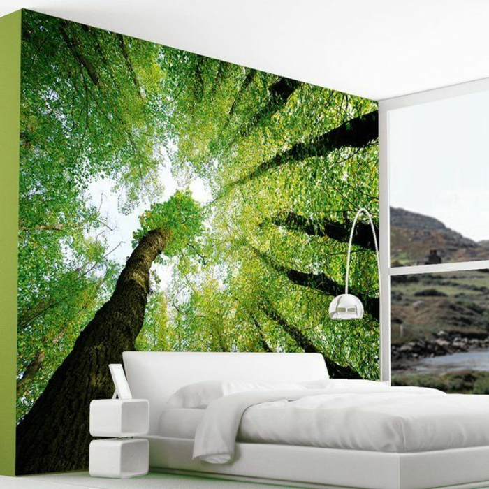 Quels stickers trompe l 39 oeil choisir id es en 50 photos - Decoration murale avec papier peint ...