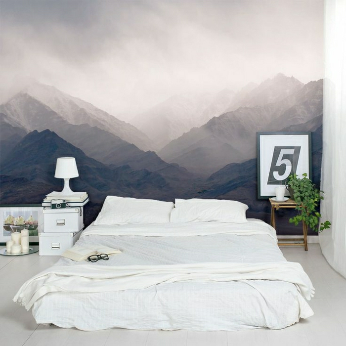 quels stickers trompe l 39 oeil choisir id es en 50 photos. Black Bedroom Furniture Sets. Home Design Ideas