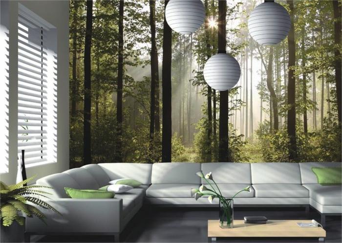 1-stickers-trompe-l-oeil-décoration-murale-canapé-blanc-dans-le-salon-petite-decoration-murale