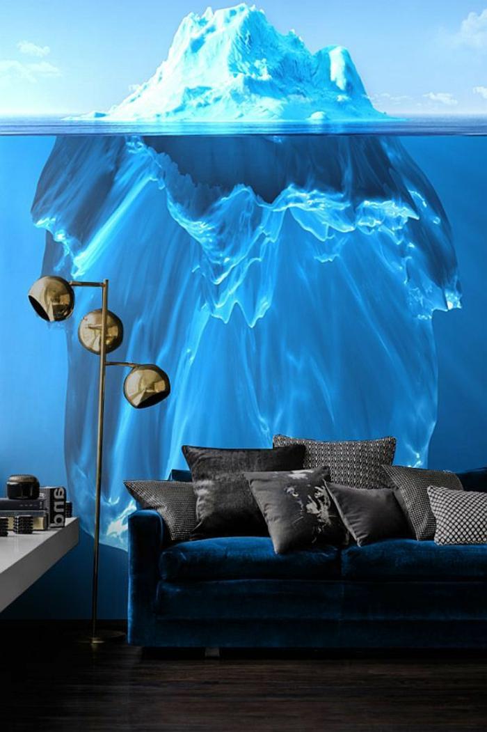 1-trompe-l-oeil-stickers-meubles-dans-le-salon-moderne-canapé-noir-coussins-noirs-deco-murale