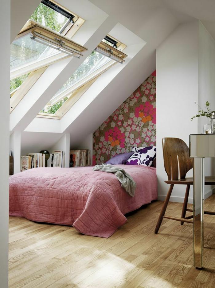 1-une-jolie-chambre-sous-pente-chambre-à-coucher-amenagement-comble-sol-en-parquette