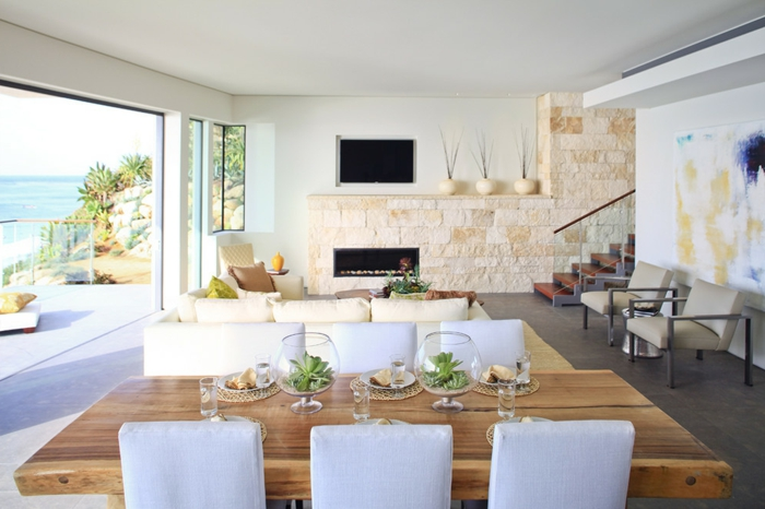 vase-design-vase-deco-pot-réservoir-vase-verre-transparent-chaises-salle-à-manger-salon