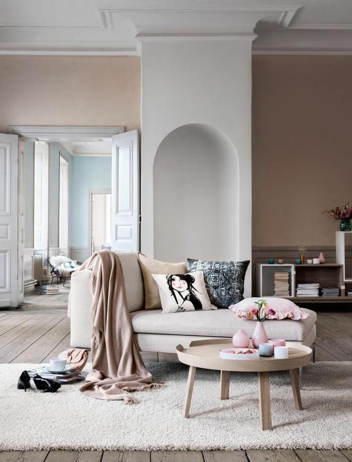 2-aménagement-petit-espace-avec-le-fauteuil-convertible-lit-salle-de-séjour-belle-comment-aménager-son-salon