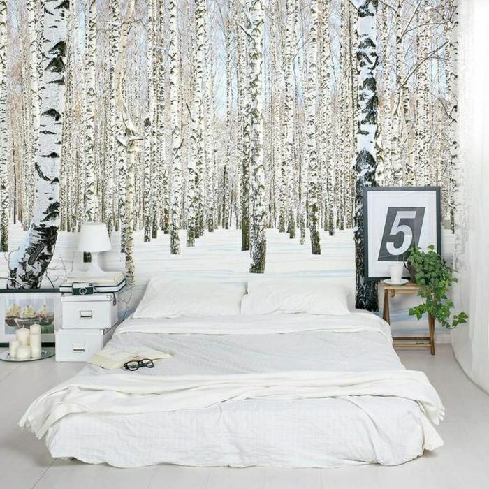 2-saint-maclou-papier-peint-intissé-avec-photo-lit-bas-linge-de-lit-blanc