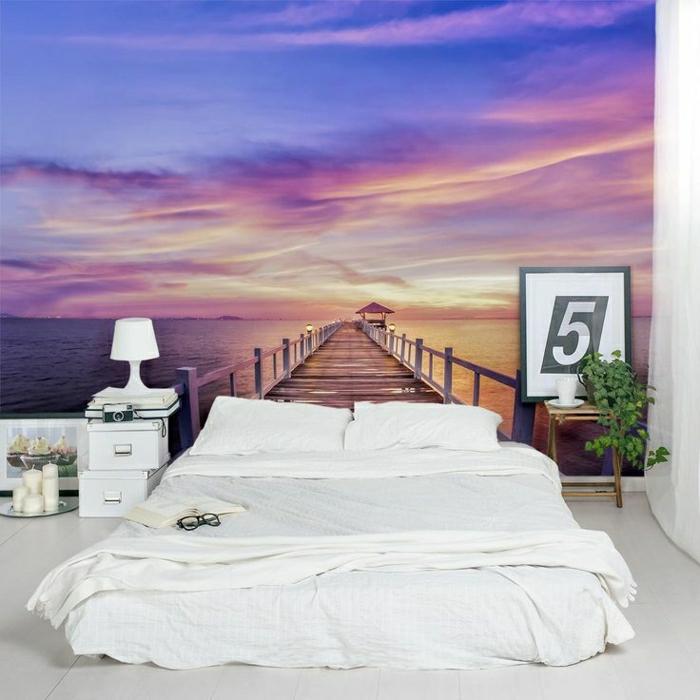 2-saint-maclou-papier-peint-intissé-chambre-à-coucher-moderne-linge-de-lit-blanc