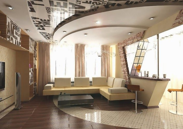 Model faux plafond salon 20170815125017 - Model faux plafond salon ...