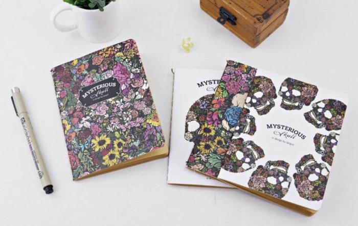 5-agenda-scolaire-cahier-personnalisable-idées-originales-squellet-colorée