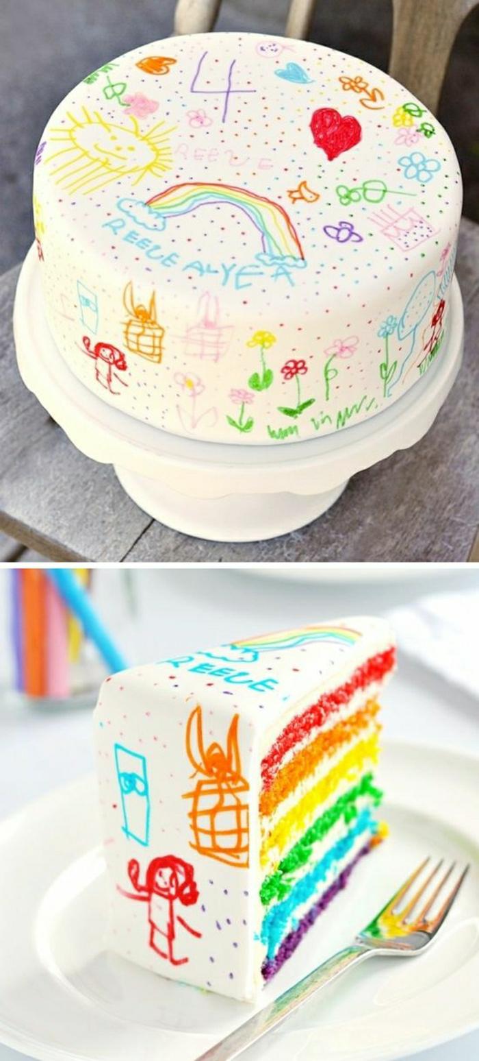 Conte-de-fée-idée-déco-festive-3-ans-gateau-anniversaire-fille-5-ans-4-ans-idée-originale