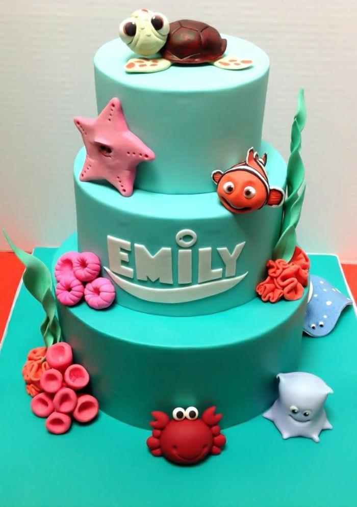 Déco-gateau-anniversaire-enfant-disney-recette-gateau-anniversaire-fille-1-an-bleu-emo