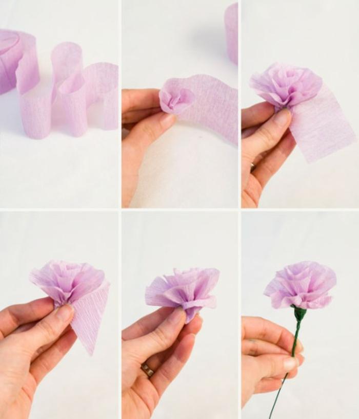 DIY-fleurs-papier-crepon-bouquet-de-mariée-fleur-en-papier-crépon-rose-violet
