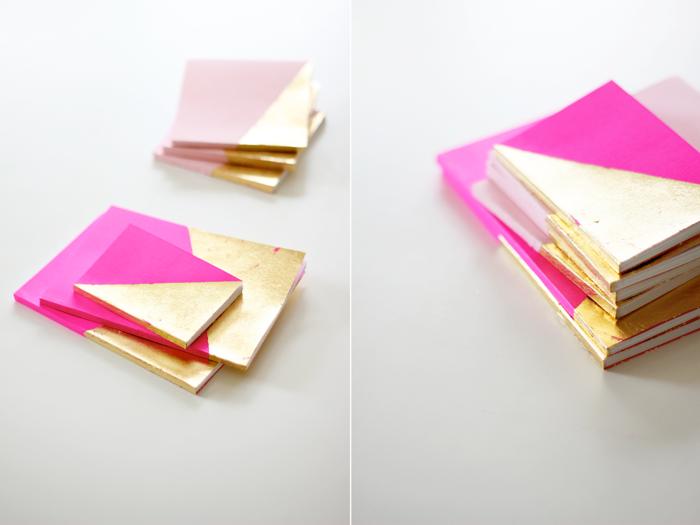 agenda-a-personnaliser-bloc-notes-personnalisé-cahier-beau-école-rose-dorée