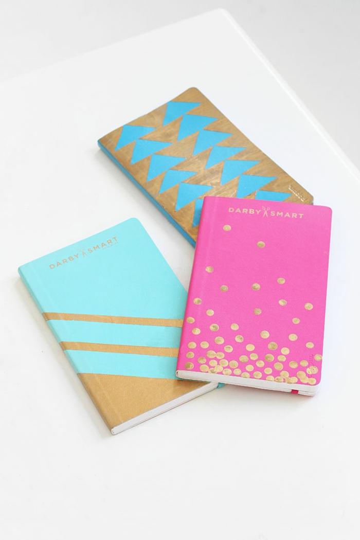 agenda-scolaire-personnalisable-cahier-personnalisable-idées-originales-rose-dorée