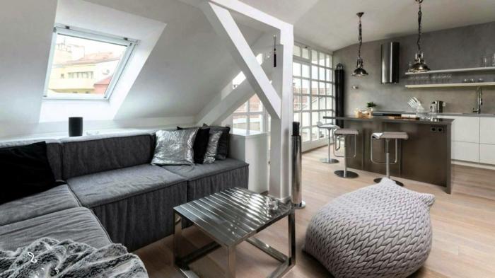 aménagement-de-combles-interieur-gris-sol-en-parquette-en-bois-meubles-gris