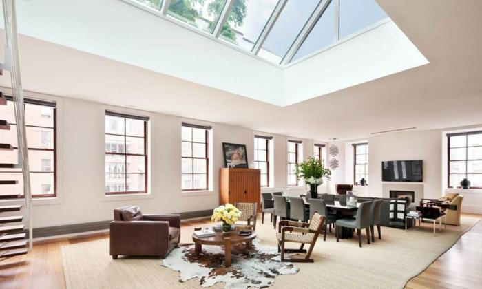 aménagement-de-combles-vaste-salle-de-séjour-moderne-plafond-en-verre-fenetre-grande