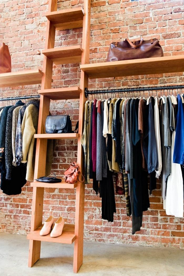 aménager-un-dressing-loft-dressing-avec-échelle