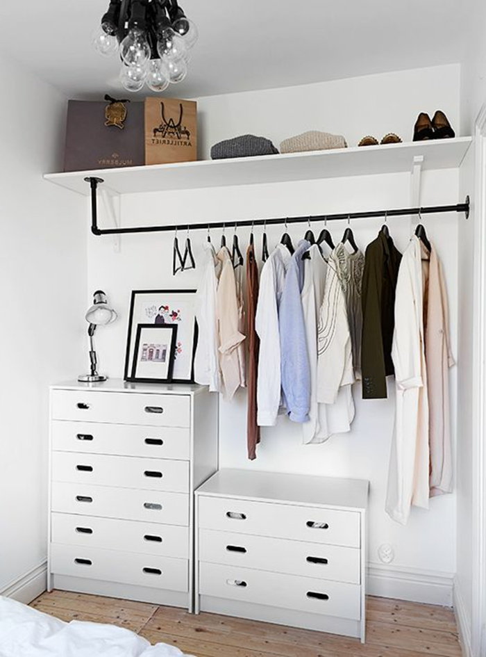 comment am nager un dressing pratique et ranger les v tements avec style. Black Bedroom Furniture Sets. Home Design Ideas