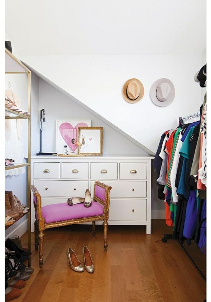 aménager-un-dressing-placard-sous-pente