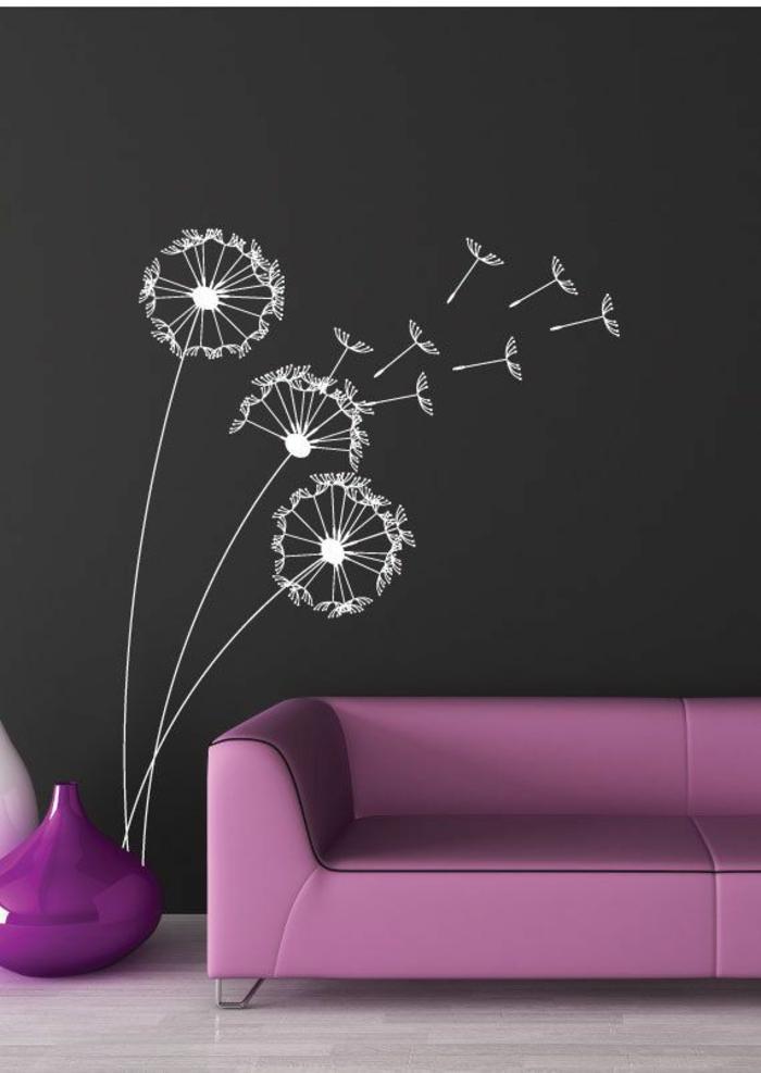 ardoise-murale-cuisine-tableau-ardoise-deco-mural-ardoise-murale-cuisine-fleurs-sur-mur-blanc-et-noir