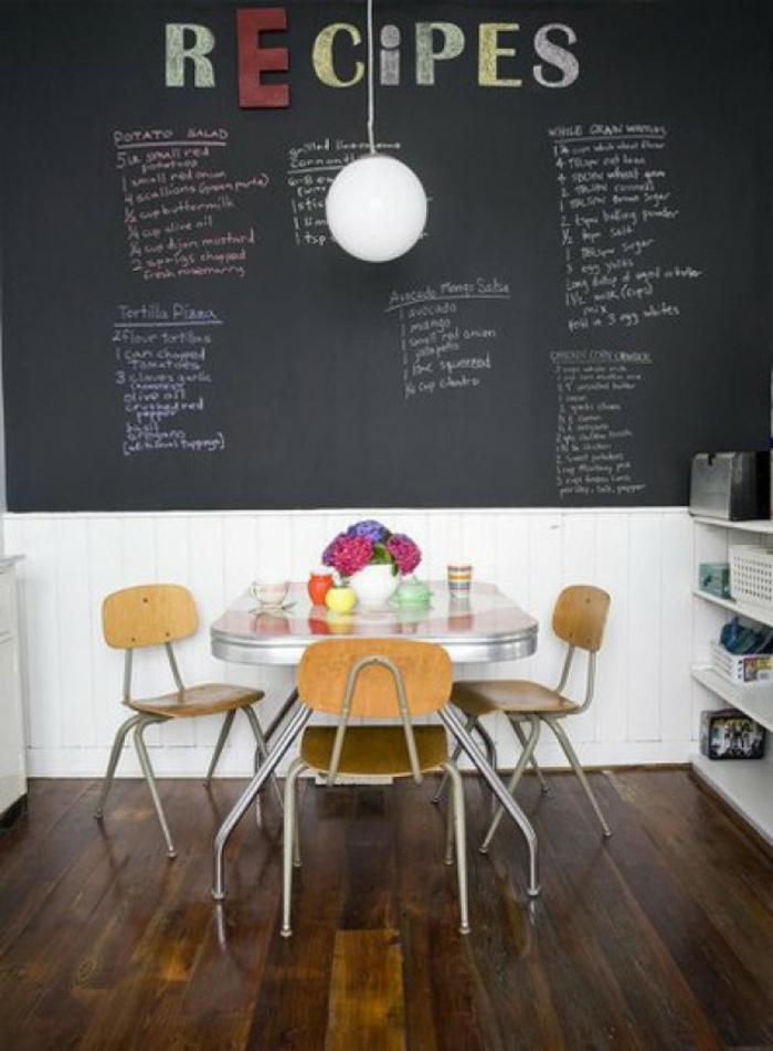 ardoise-murale-peinture-ardoise-deco-murale-grand-tableau-ardoise-magnétique-recepies-cuisine