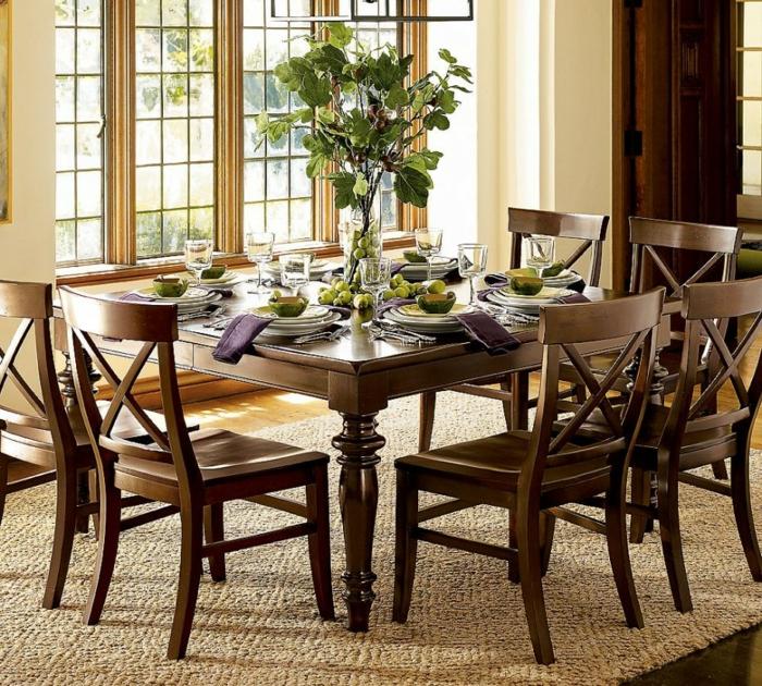bac-vase-design-vase-deco-pot-réservoir-vase-verre-transparent-belle-cuisine-table-chaises-salle-à-manger