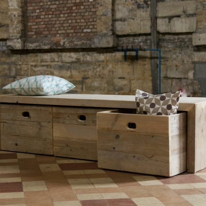 fabriquer un banc en bois avec rangement. Black Bedroom Furniture Sets. Home Design Ideas