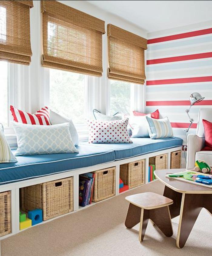 Le banc de rangement un meuble fonctionnel qui for Jugendzimmer gardinen jungen