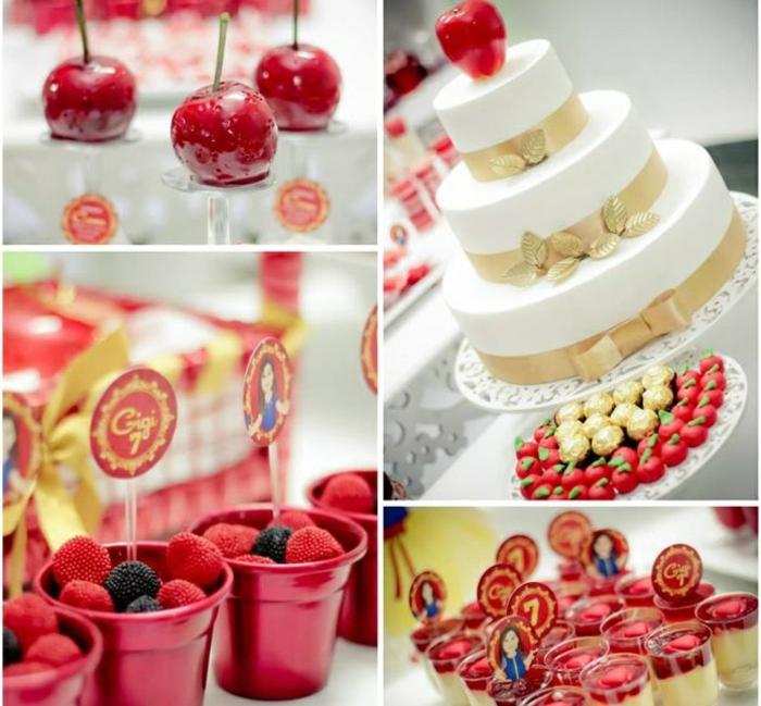 blanche-neige-et-les-7-nains-déco-anniversaire-enfant-belle-idée-stylée-pommes-bonbons