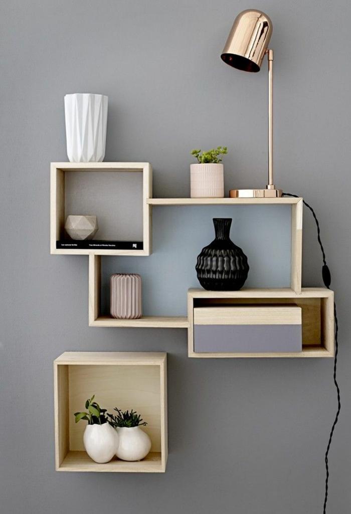 boîte-de-rangement-étagère-élégante-en-bois