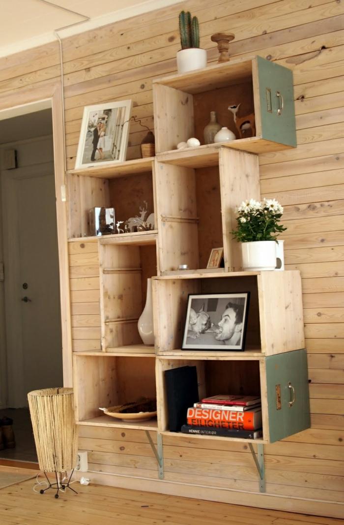 boîte-de-rangement-étagère-murale-de-vieux-tiroirs