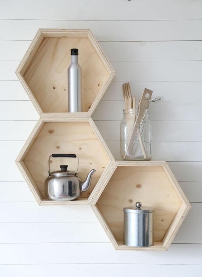 boîte-de-rangement-boîtes-de-rangement-héxagonales