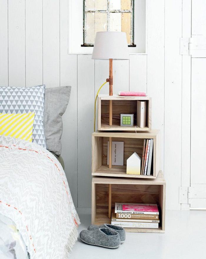 boîte-de-rangement-boîtes-de-rangement-originales-près-du-lit