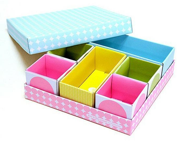 boîte-de-rangement-boîtes-diy-colorées