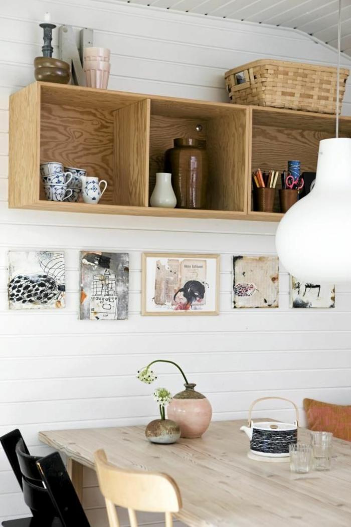 boîte-de-rangement-boîtes-en-bois-suspendues-dans-la-cuisine