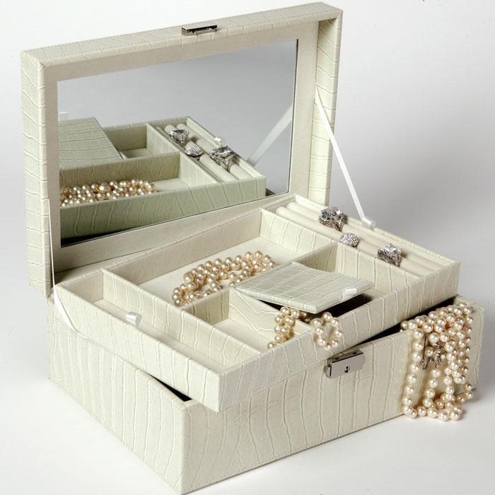 boite-a-bijoux-musicale-pour-petite-fille-boite-à-bijoux-à-décorer-boite-blanche-cuir-perles