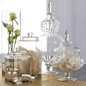 Lе vase en verre - un joli détail de la déco