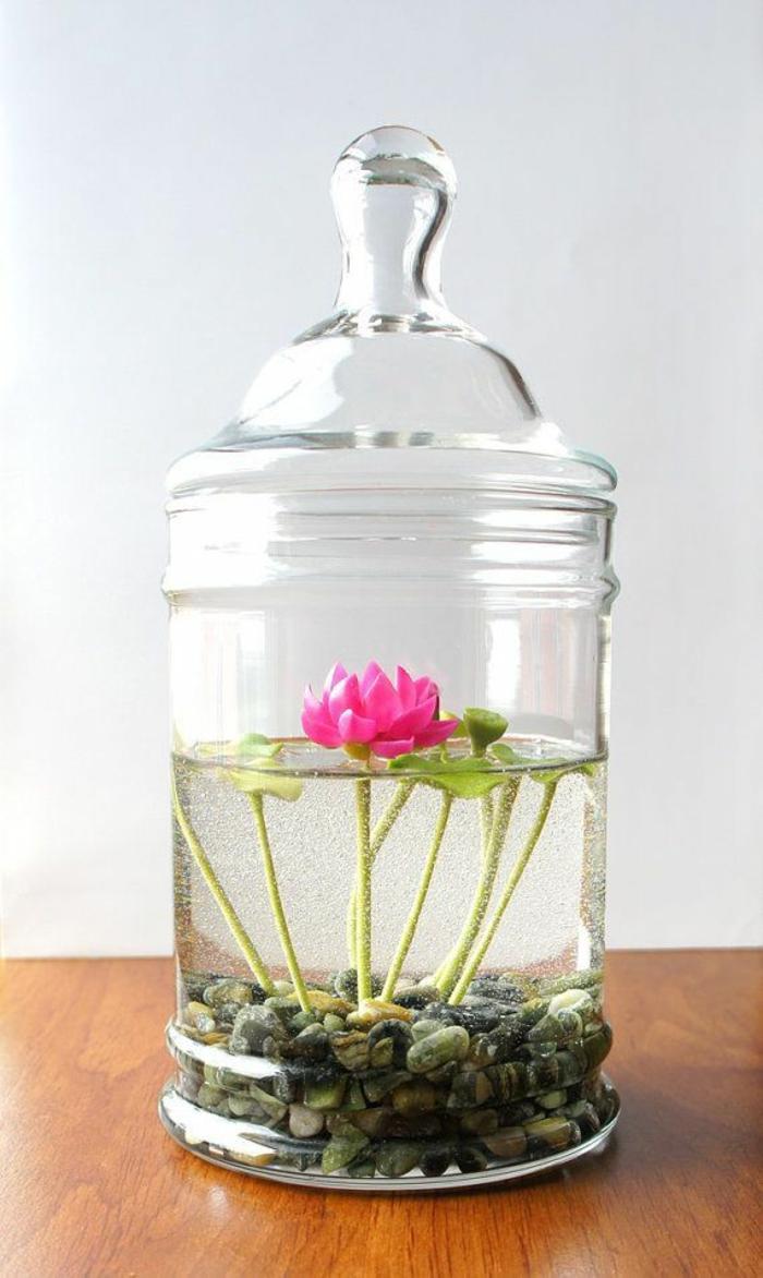 bonbonnière-de-mariage-festive-bonbons-dragées-fleur-dans-eau-lillie