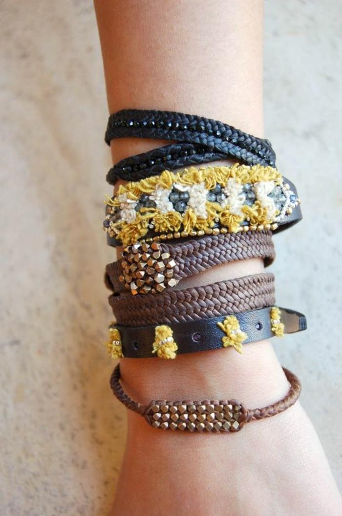 bracelets-brésilien-tuto-bracelet-bracelets-brésilien-marron-foncé