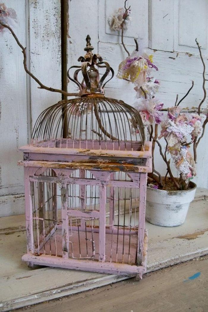 cage-à-oiseaux-décorative-ancienne-cage-rose