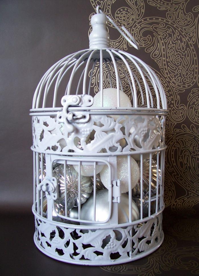 cage-à-oiseaux-décorative-blanche-décoratioн-de-noel