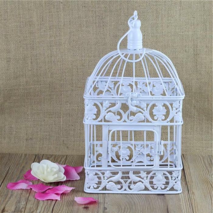 la cage oiseaux d corative tendance shabby chic. Black Bedroom Furniture Sets. Home Design Ideas