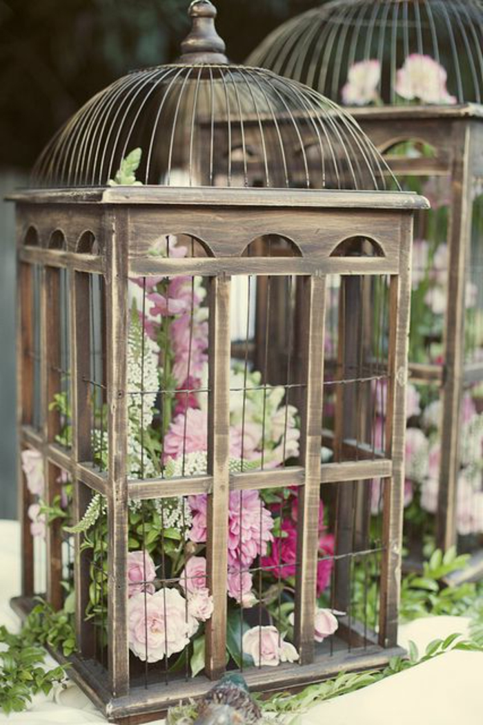 La cage oiseaux d corative tendance shabby chic for Cage d oiseau decorative