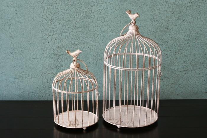 La cage oiseaux d corative tendance shabby chic for Cages a oiseaux decoratives