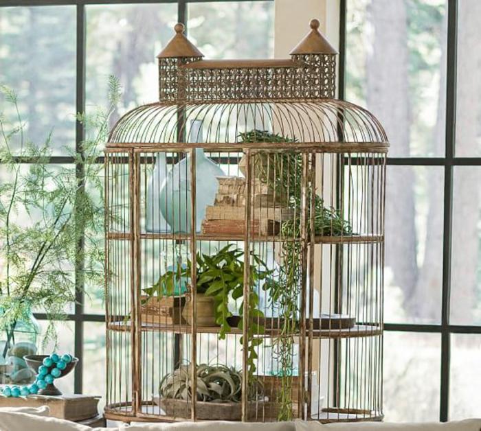 La cage oiseaux d corative tendance shabby chic - Cage oiseau decorative interieur ...
