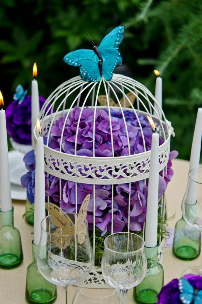 cage-à-oiseaux-décorative-pièce-centrale-de-table